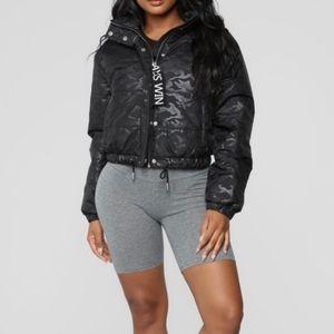 Ashley By 26 International Black Puffer Jacket M